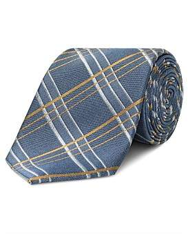 Van Heusen Blue With Gold Check