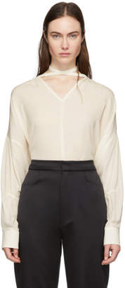 Joseph Off-White Silk Georgette Blouse