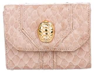 Judith Leiber Snakeskin Micro Wallet