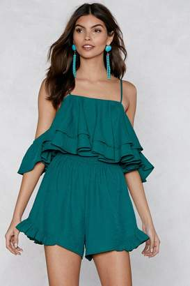 Nasty Gal You Just Keep Getting Better Ruffle Romper