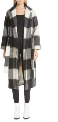 Ganni Pattern Wool Blend Coat