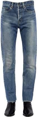 Saint Laurent 16cm Slim Embroidered Detail Denim Jeans