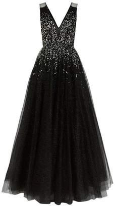 Jenny Packham Samar Beaded Glitter Tulle Gown