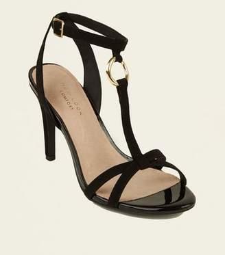 New Look Black Comfort Suedette Ring Strap Stilettos