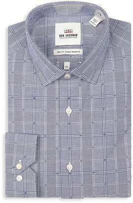 Ben Sherman Slim Fit Dobby Check Wrinkle-Free Dress Shirt