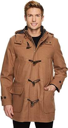 Nautica Men's Hooded Wool Toggle Coat