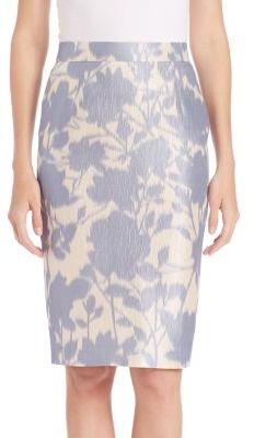 Escada Floral-Print Pencil Skirt $850 thestylecure.com
