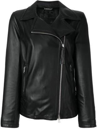 Giorgio Armani classic zipped biker jacket