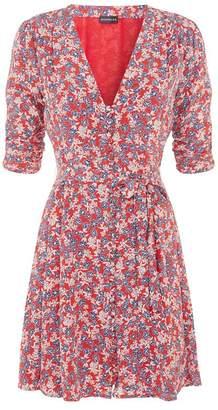 Nicholas Red Blossom Silk Mini Dress