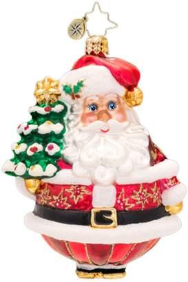 Christopher Radko Glass Festive Fellow Santa Claus Christmas Ornament