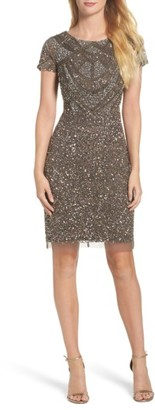 Women's Adrianna Papell Beaded Sheath Dress $249 thestylecure.com