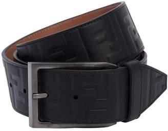 Fendi 40mm Ff Signature Embossed Leather Belt