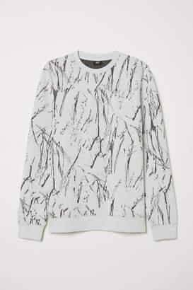 H&M Jacquard-knit Sweater - Gray