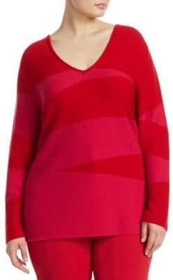 Marina Rinaldi Marina Rinaldi, Plus Size Knit V-Neck Sweater