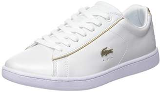 d8ac191e8 Lacoste Women s Carnaby Evo 118 6 SPW Wht gld Trainers