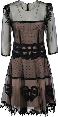 Blumarine Embroidered Tulle Dress