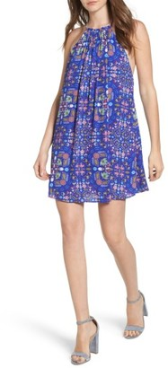 Women's Everly Print High Neck Swing Dress $45 thestylecure.com