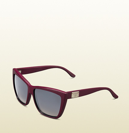 Gucci Special Edition Medium Rectangle Frame Sunglasses With '1921 Collection' Gold Plaque On Temple.