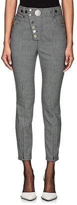 Alexander Wang Women's Button-Detail Houndstooth Trousers