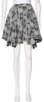 Robert Rodriguez Pleated Floral Print Skirt