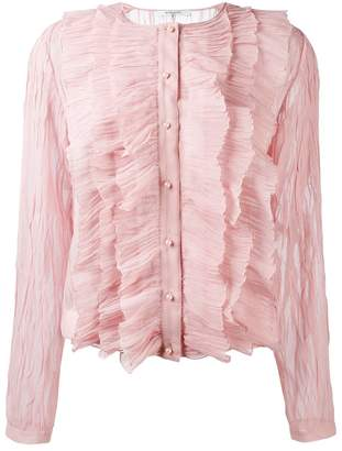 Givenchy crepe ruffled blouse