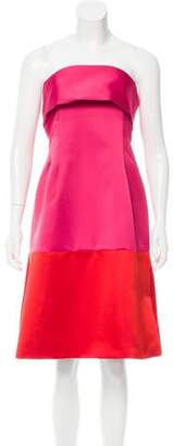 Thakoon Satin Colorblock Dress