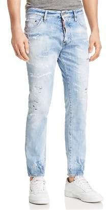 DSQUARED2 Light Piranha Skinny Fit Cigarette Jeans in Blue