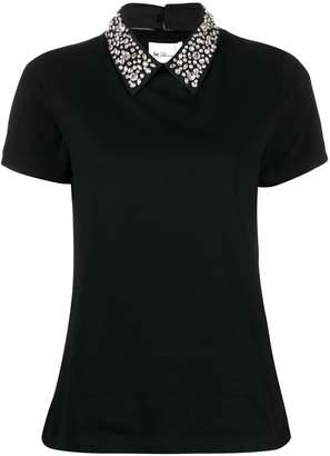 Blumarine be embellished collar T-shirt