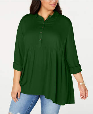Style&Co. Style & Co Plus Size Babydoll Shirt