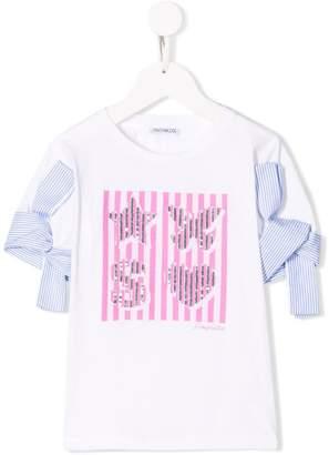 Simonetta sequin embroidered T-shirt