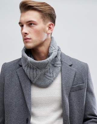 Esprit Cable Infinity scarf In Gray