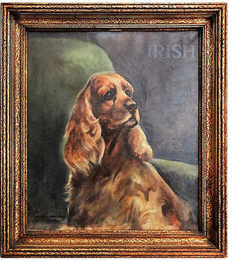 One Kings Lane Vintage Spaniel Portrait by G.M. Coats