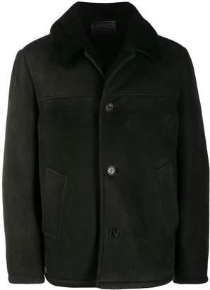 Prada sheepskin single-breasted coat
