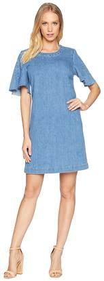 7 For All Mankind Popover Dress w/ Kick Sleeves Women's Dress