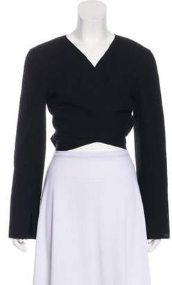 Chanel Wool Wrap Top Black Wool Wrap Top