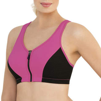 Glamorise Magiclift High Impact Zip-Front Wireless Racerback Unlined Sports Bra-1266