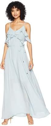 Raina American Rose Spaghetti Strap Maxi Dress Women's Dress