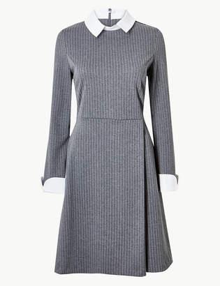 db622122c3 Marks and Spencer Striped Long Sleeve Skater Dress