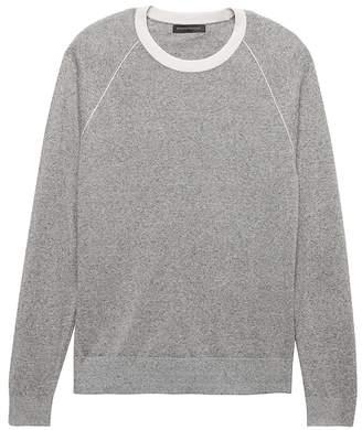 Banana Republic Silk-Linen Contrast Collar Sweater