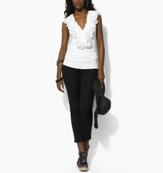 Cotton-Silk Ruffle Top