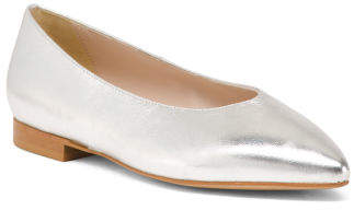 Made In Italy Leather Pointed Toe Flats