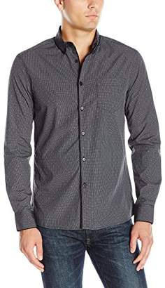 Kenneth Cole New York Men's LS SLM Piping Shrt