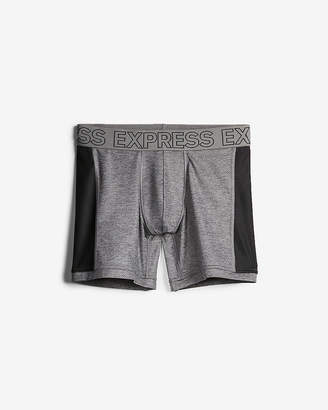 Express Grey Color Block Performance Boxer Briefs