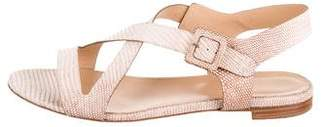 Sergio Rossi Embossed Buckle Sandals