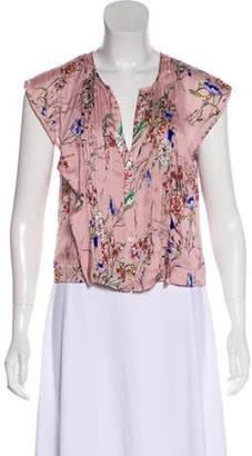 Marissa Webb Silk Floral Top