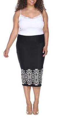 White Mark Women's Plus 'Eden' Pencil Skirt