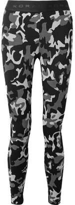 Koral Knockout Stretch Jacquard-knit Leggings - Black