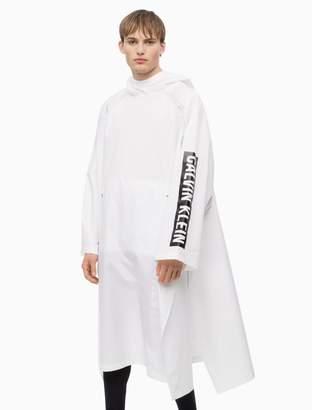 Calvin Klein logo hooded poncho