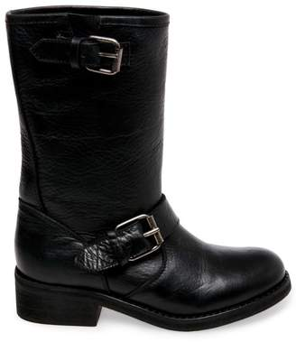 a0d056c82ef Steve Madden Leather Buckle Boots - ShopStyle
