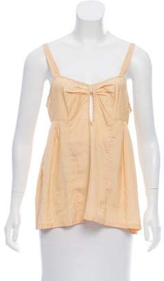 Dries Van Noten Sleeveless Silk Top